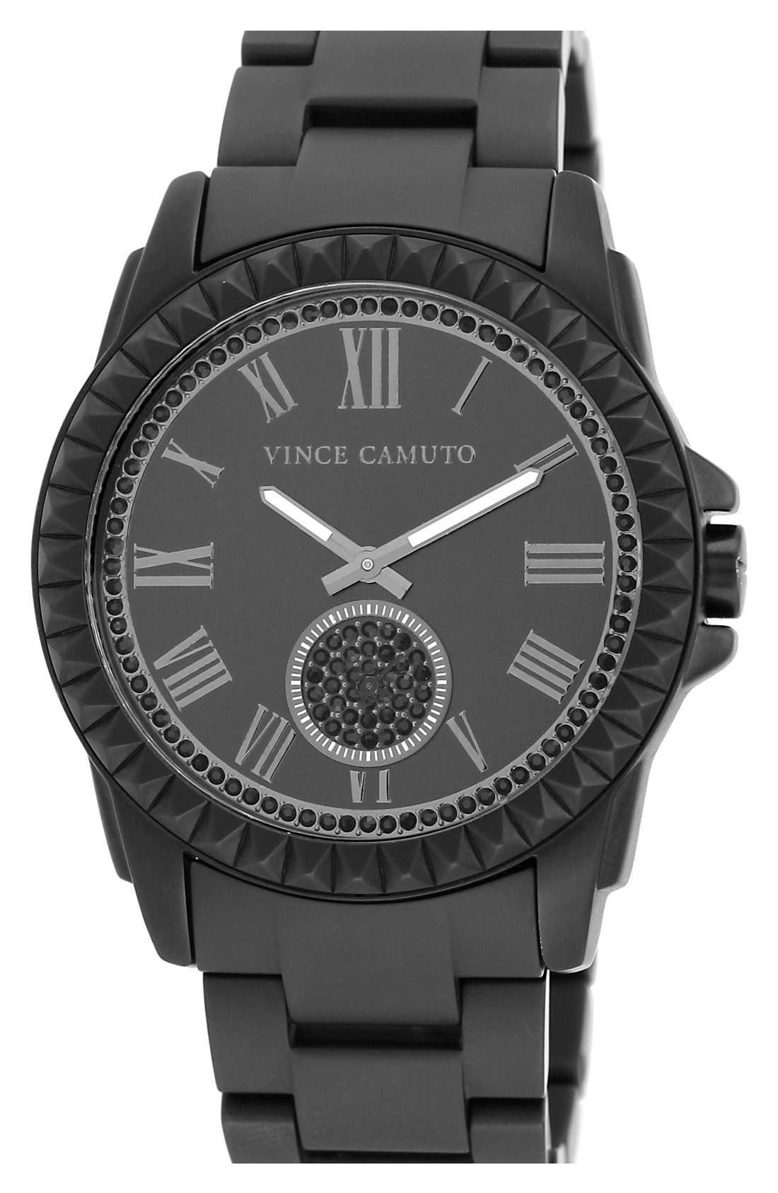 Alternate Image 1 Selected - Vince Camuto Pyramid Bezel Ceramic Bracelet Watch, 44mm x 49mm