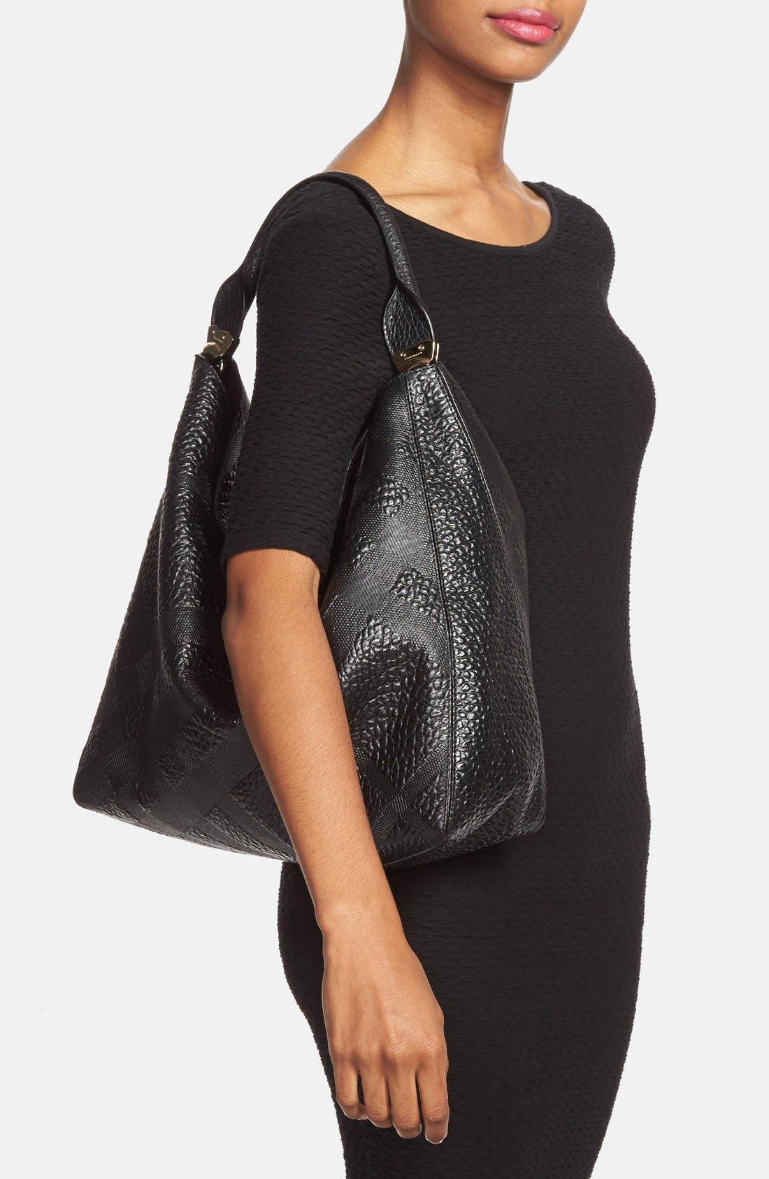Alternate Image 2  - Burberry 'Medium Lindburn' Check Embossed Leather Hobo