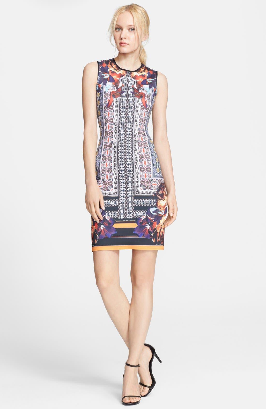 Main Image - Clover Canyon 'Irish Box' Print Neoprene Sheath Dress