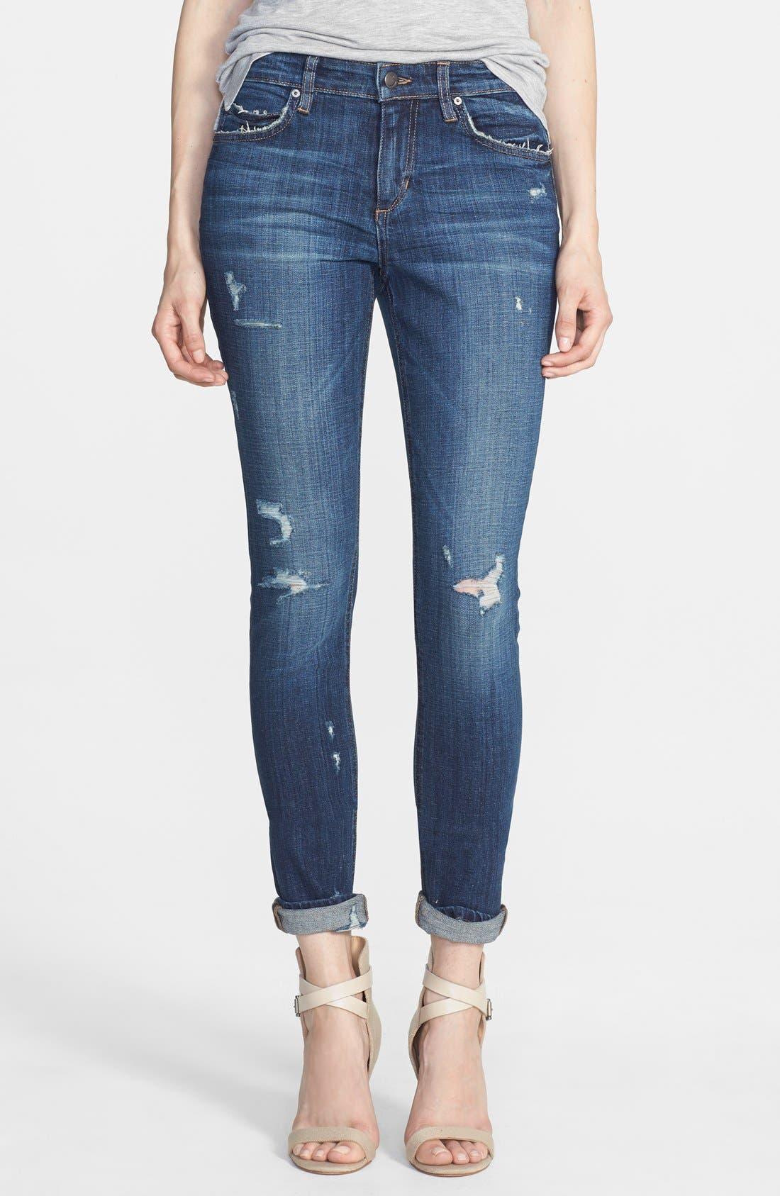 Alternate Image 1 Selected - Joe's Distressed Relaxed Slim Jeans (Riri)