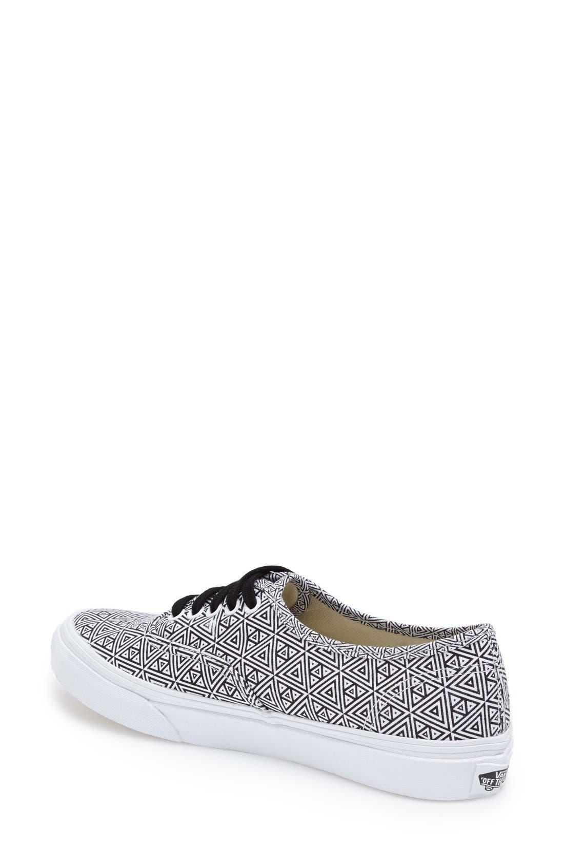 Alternate Image 2  - Vans 'Authentic Slim' Geo Print Sneaker (Women)