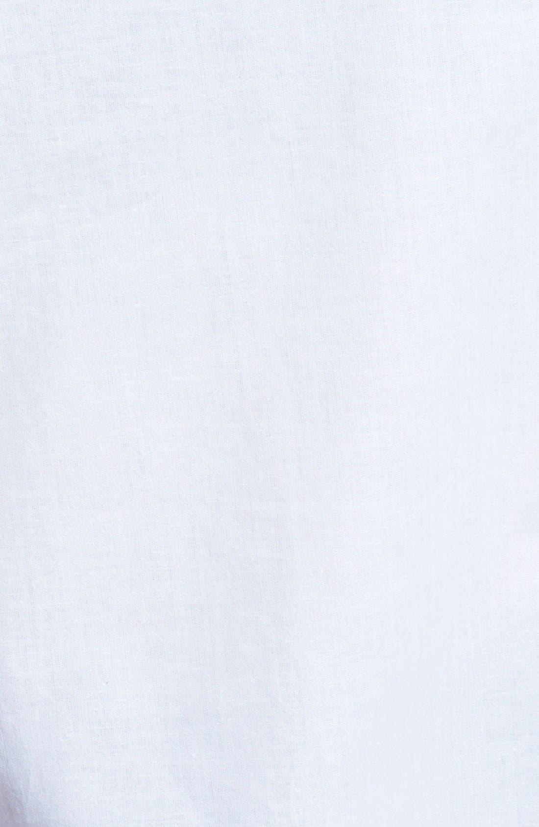 Alternate Image 3  - Anne Klein Lace-Up Cotton Top (Plus Size)
