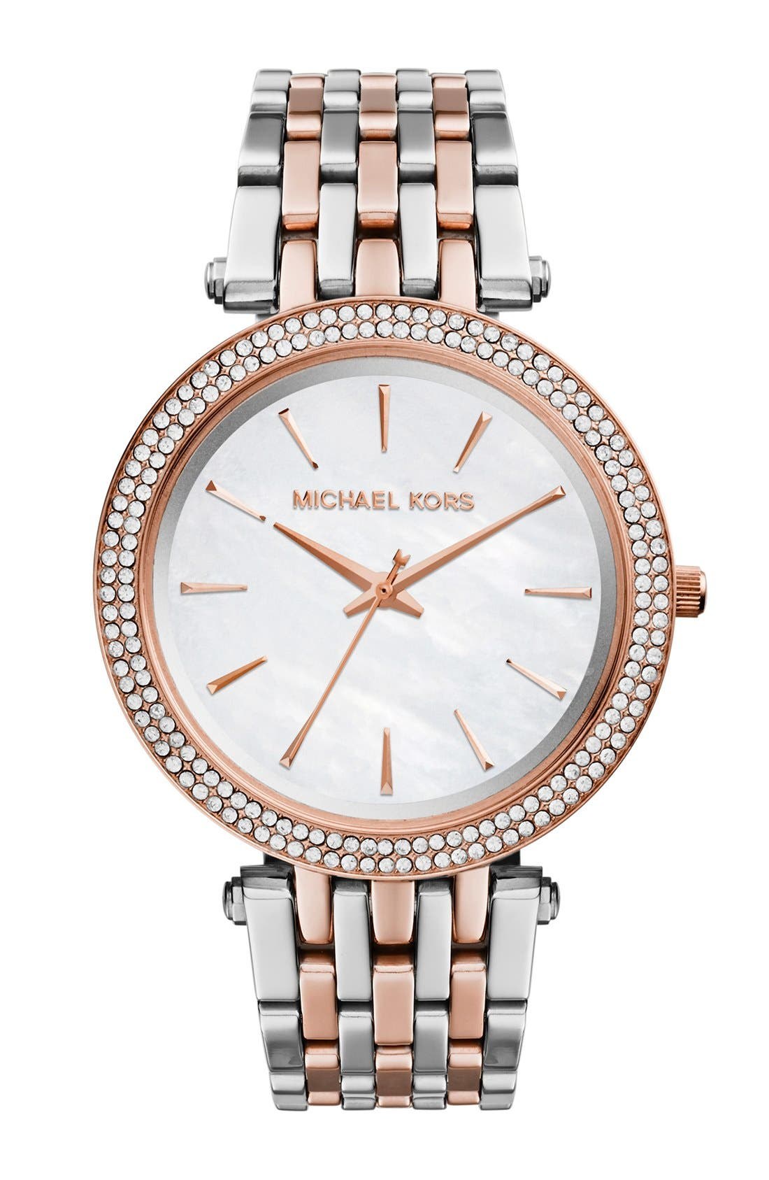 Alternate Image 1 Selected - Michael Kors 'Darci' Round Bracelet Watch, 39mm