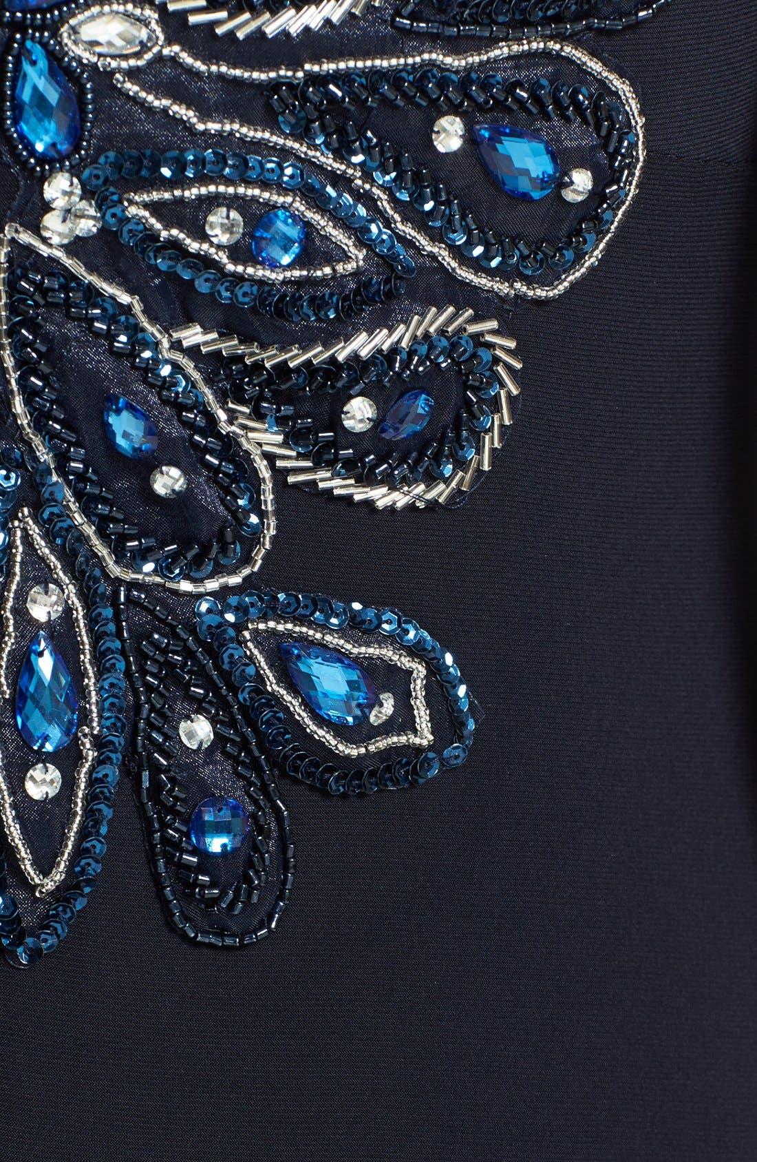 Alternate Image 3  - Xscape Embellished Shoulder Gown