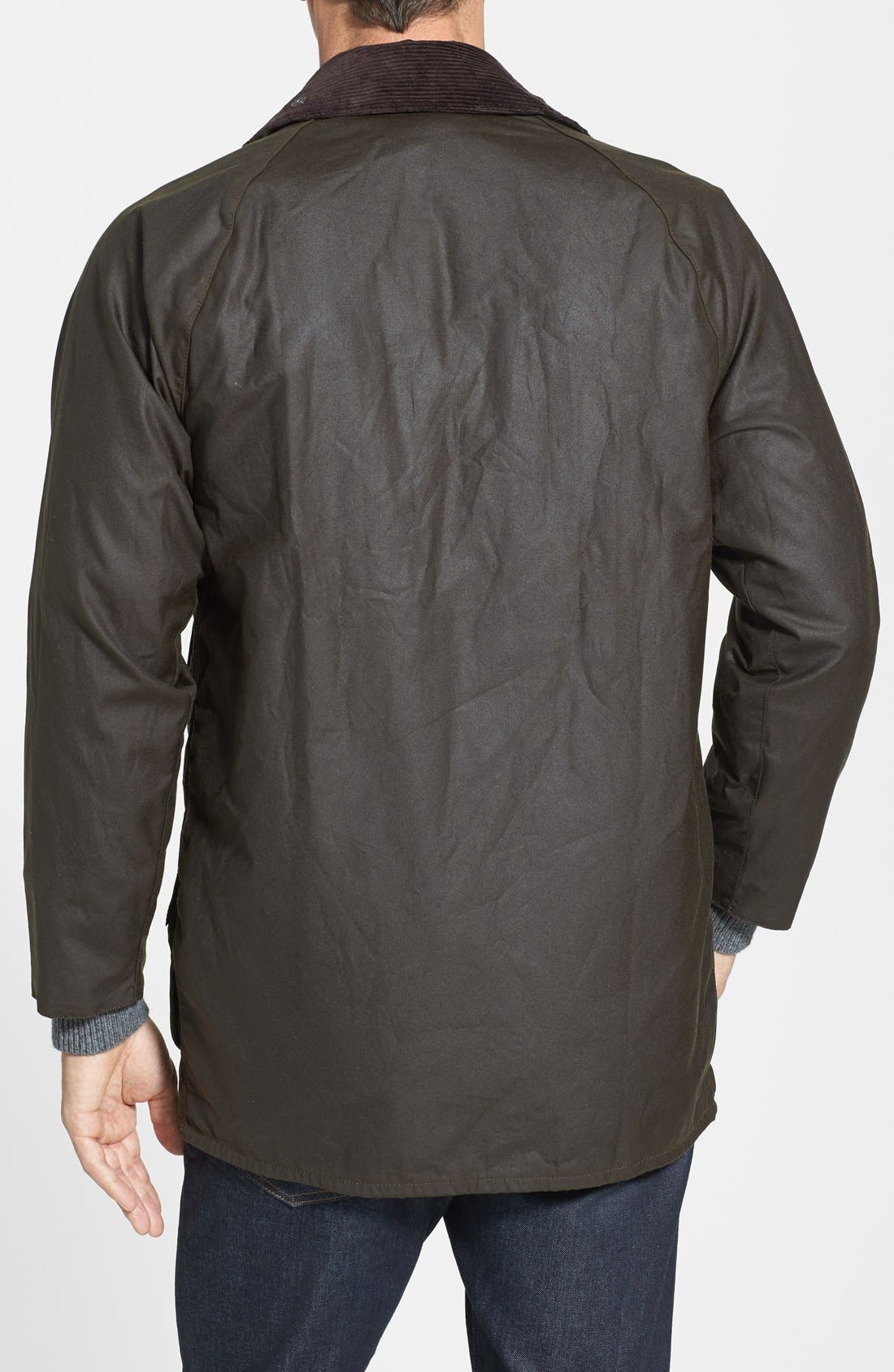 Alternate Image 2  - Barbour 'Classic Beaufort' Relaxed Fit Waxed Cotton Jacket