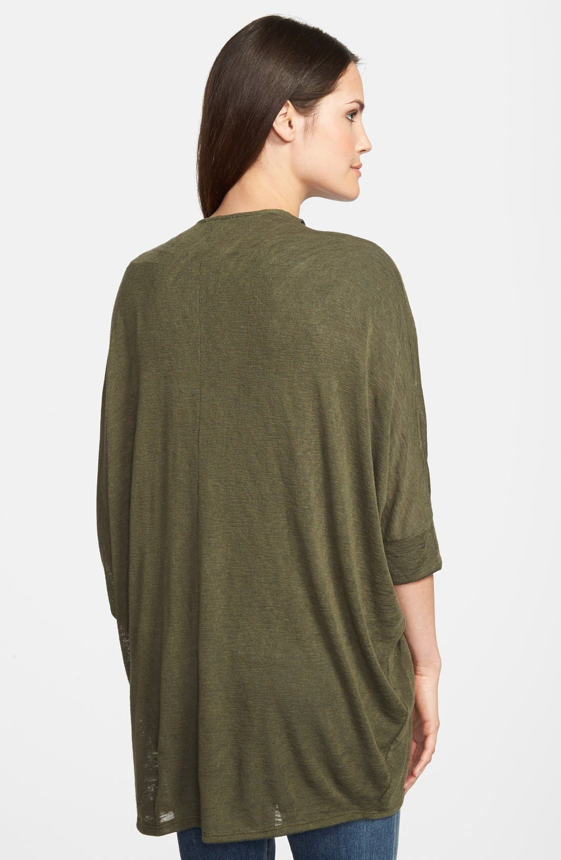 Alternate Image 2  - Gibson Dolman Sleeve Open Cardigan (Regular & Petite)
