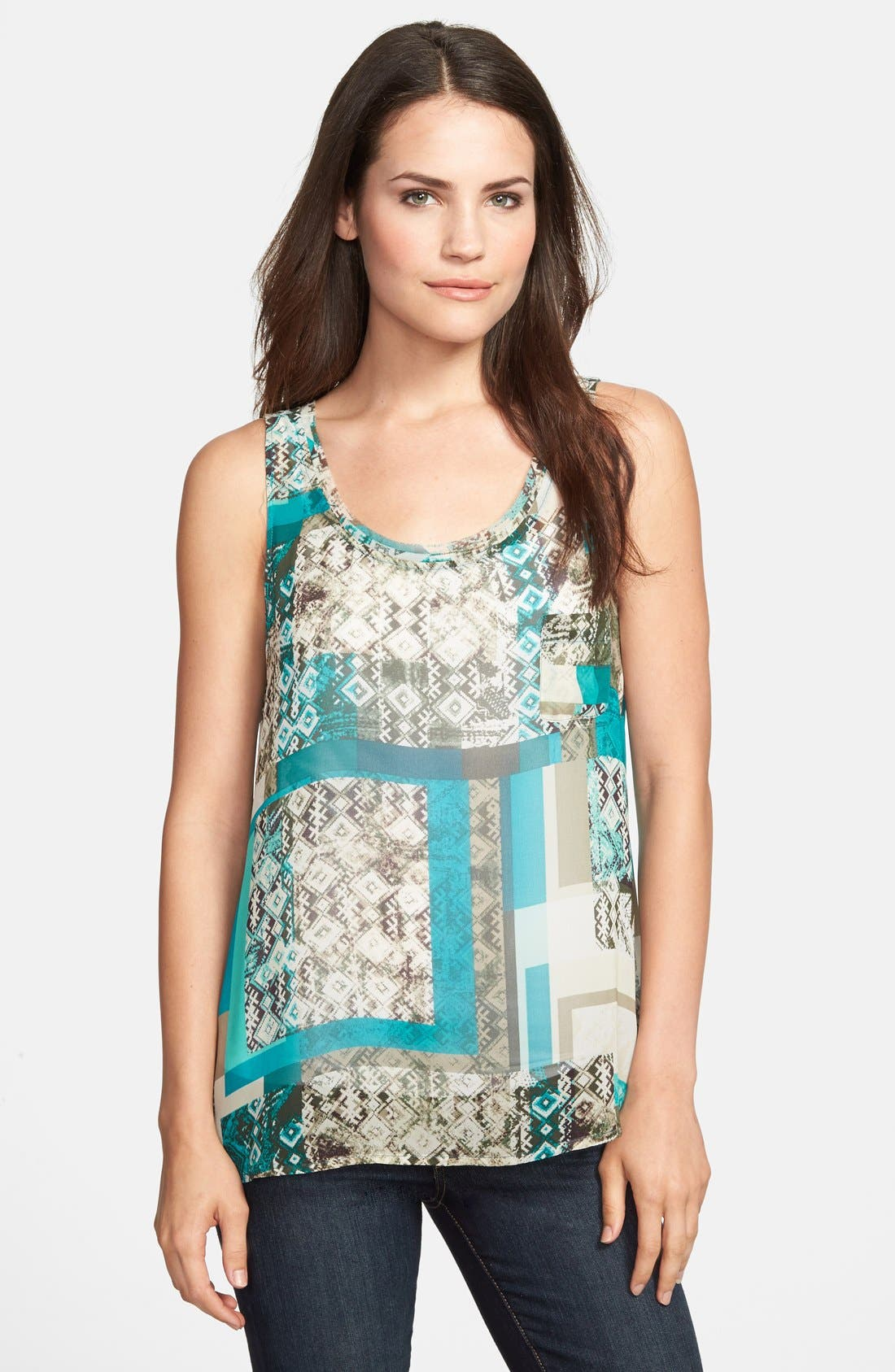 Alternate Image 1 Selected - Two by Vince Camuto 'Bohemian Patchwork' Tank