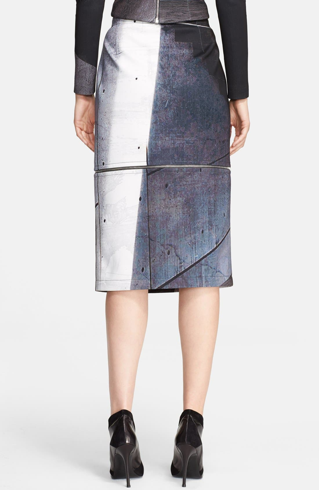 Alternate Image 2  - Yigal Azrouël Print Adjustable Length Skirt