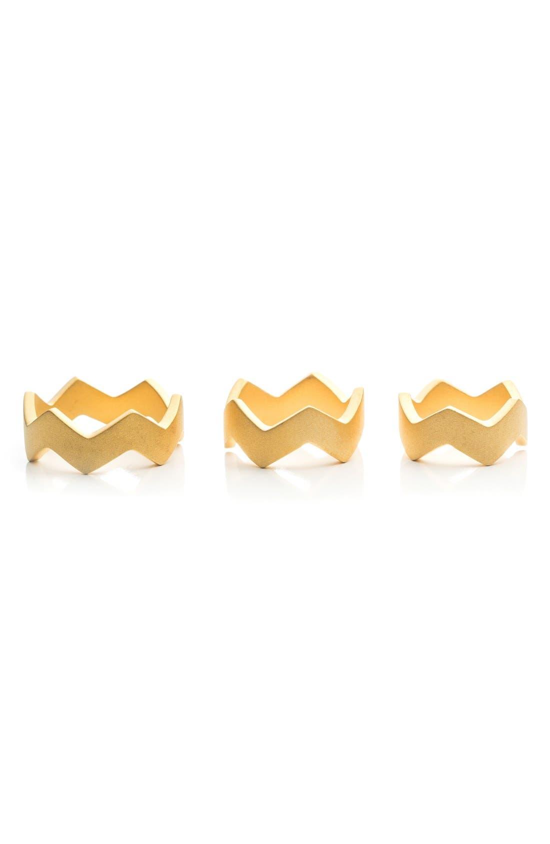 Alternate Image 1 Selected - Eddie Borgo Zigzag Stack Ring (Set of 3)
