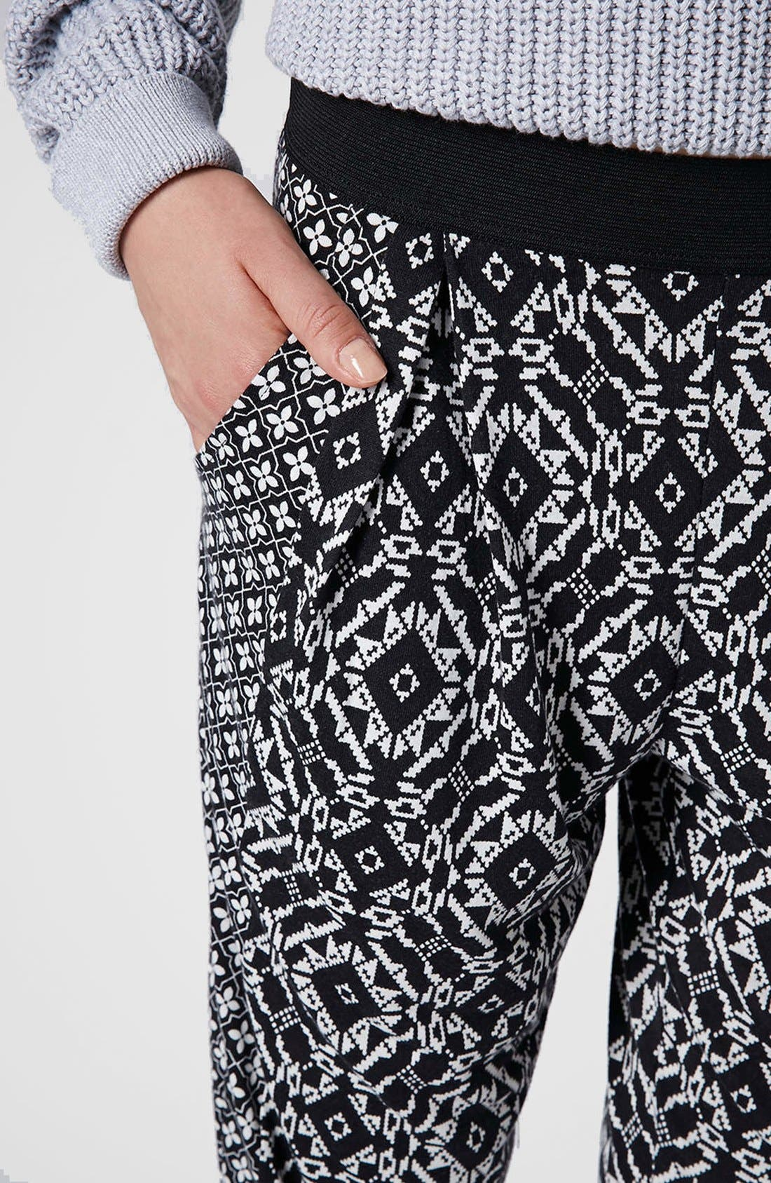 Alternate Image 4  - Topshop Mixed Print Tapered Pants (Regular & Petite)