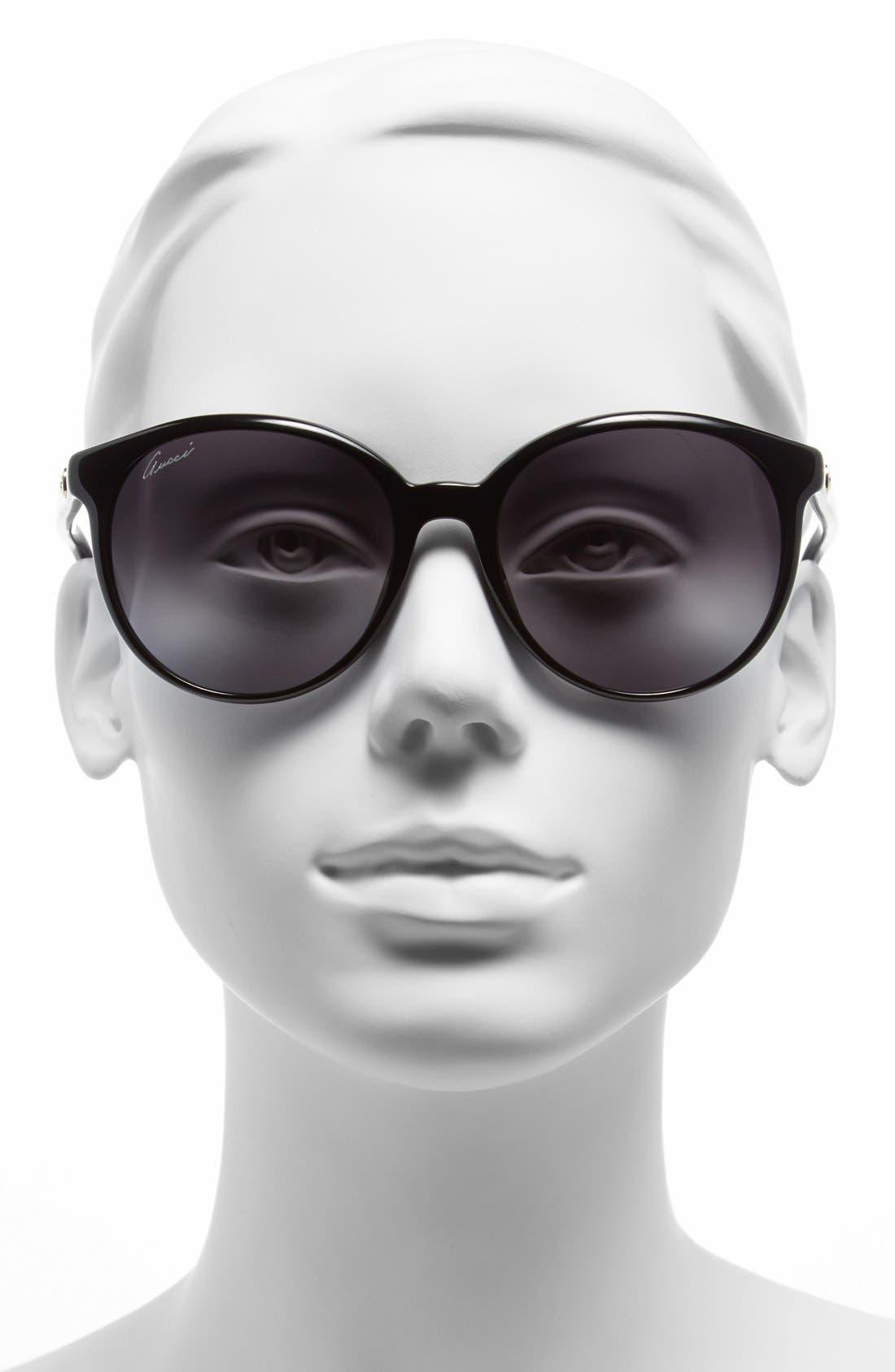 Alternate Image 2  - Gucci 56mm Retro Sunglasses
