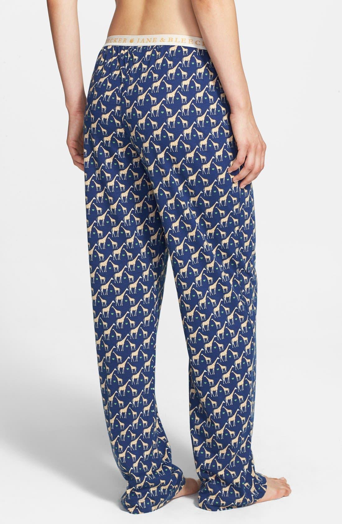Alternate Image 2  - Jane & Bleecker New York Print Jersey Pajama Pants