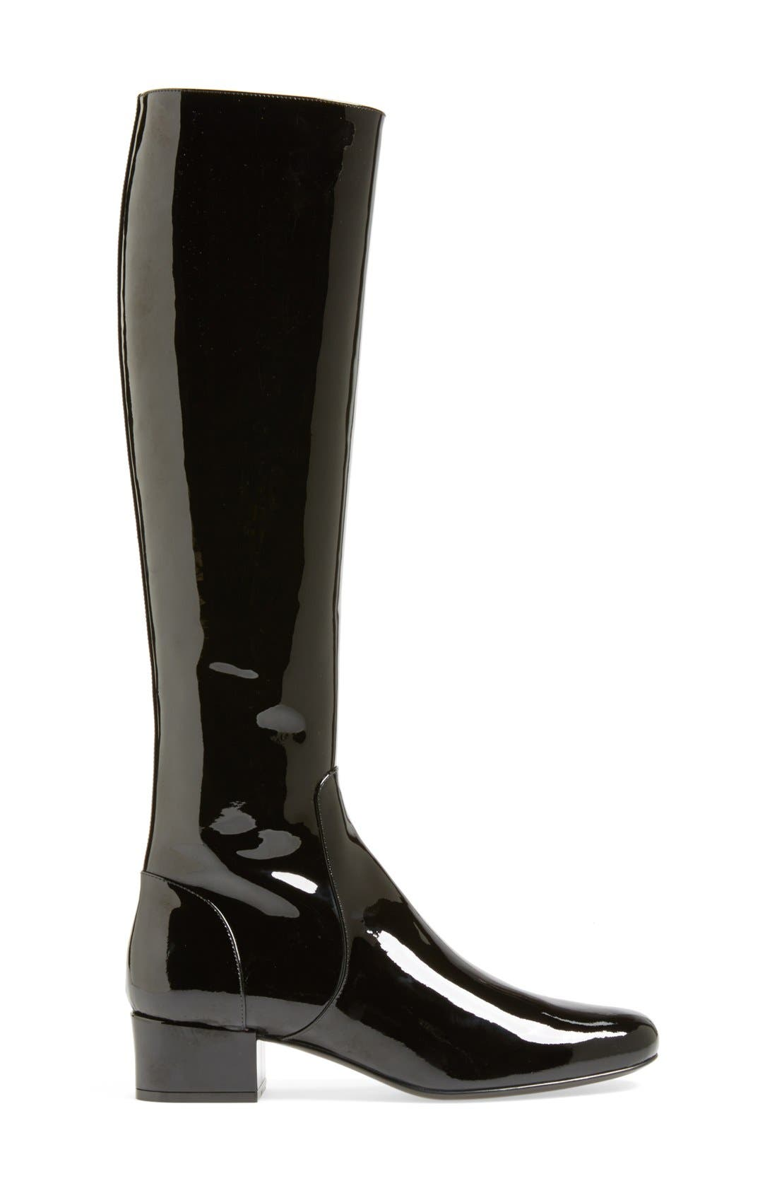 Alternate Image 4  - Saint Laurent Over the Knee Patent Leather Boot (Women)