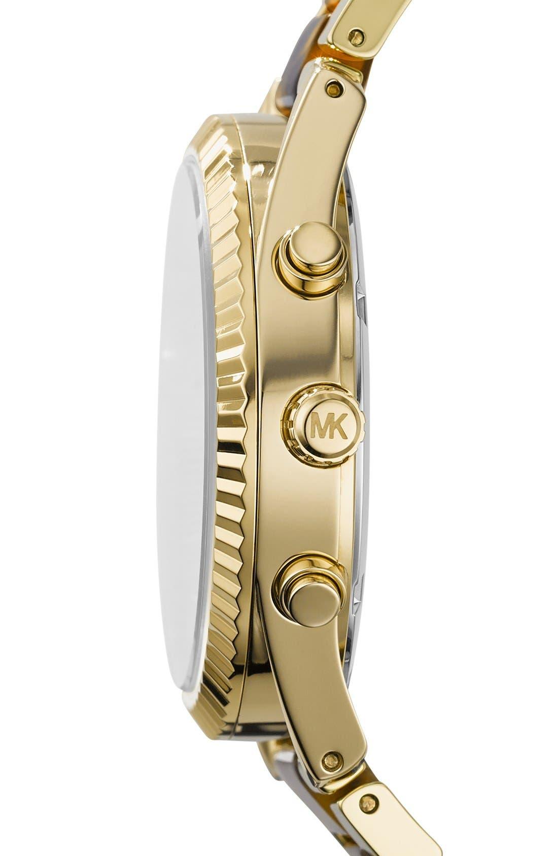 Alternate Image 3  - Michael Kors 'Clarkson' Chronograph Acetate Link Bracelet Watch, 42mm