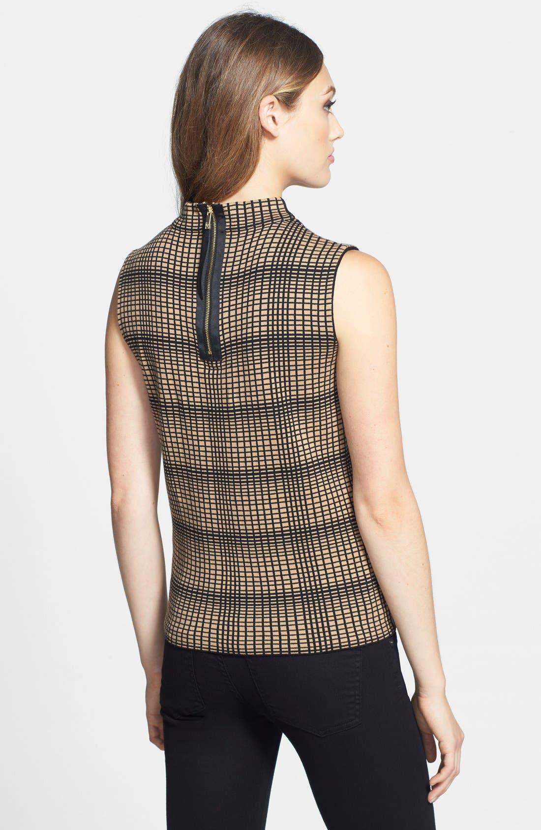 Alternate Image 2  - Vince Camuto Plaid Jacquard Sleeveless Sweater