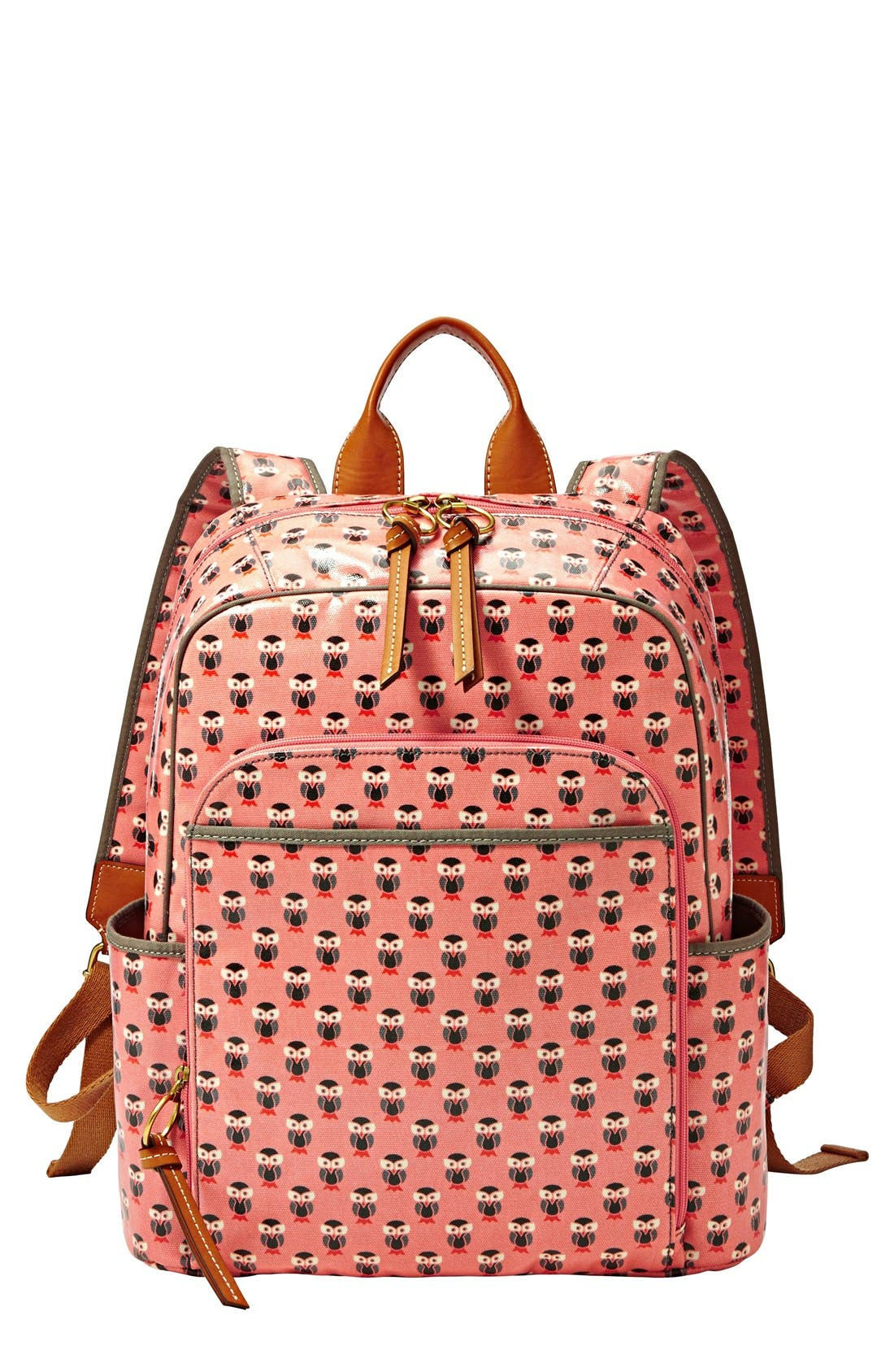 Alternate Image 1 Selected - Fossil 'Key-Per' Print Coated Canvas Backpack