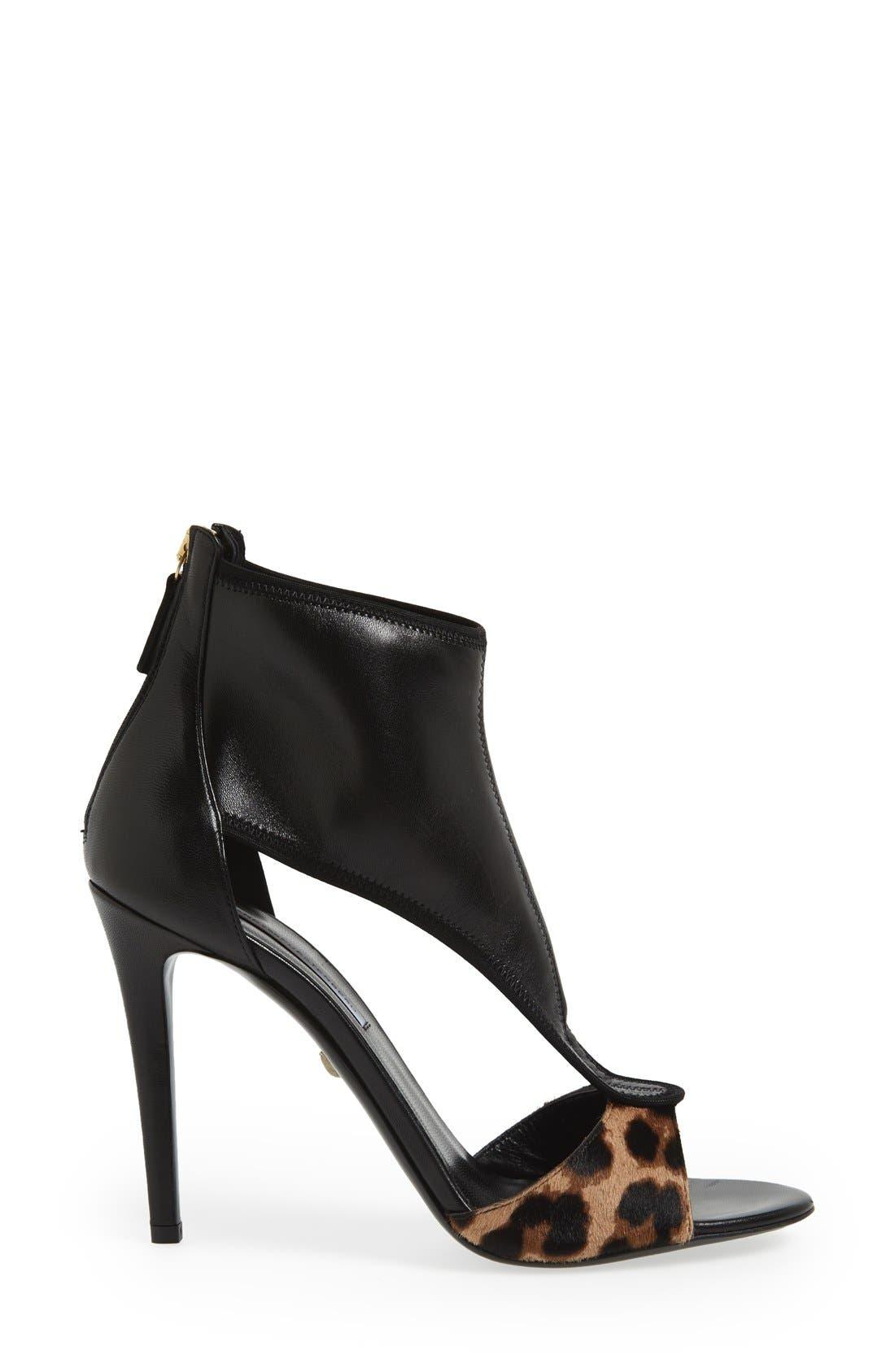Alternate Image 4  - Diane von Furstenberg 'Uffie' Leather & Calf Hair Sandal