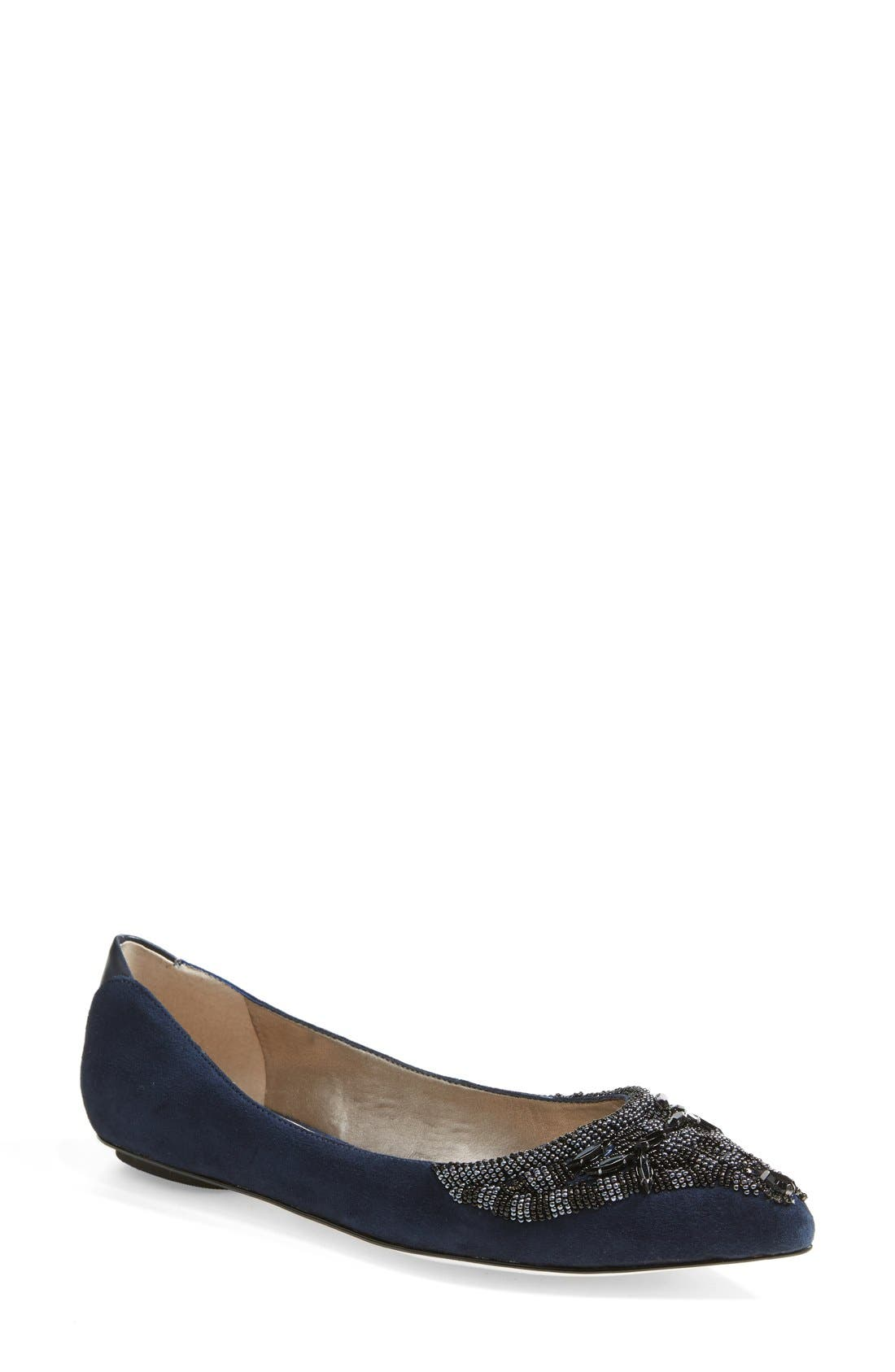 Main Image - Sam Edelman 'Cindi' Beaded Pointy Toe Flat (Women)