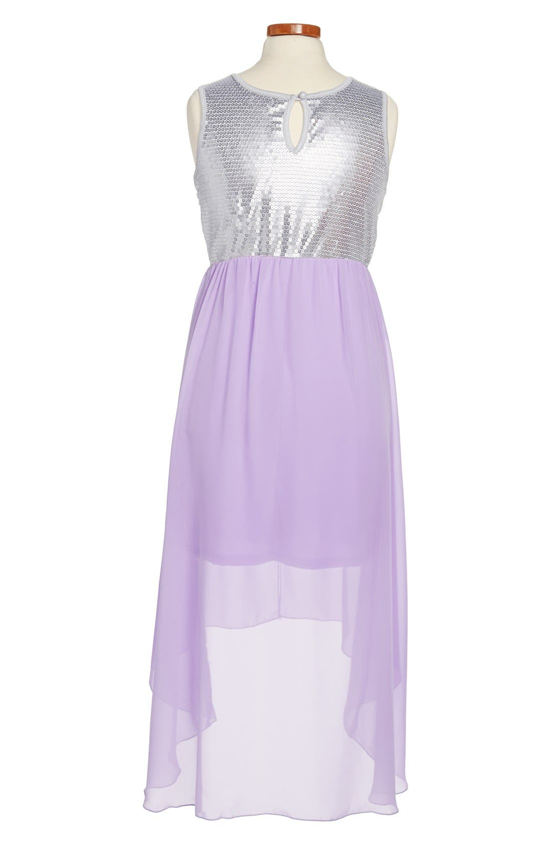 Alternate Image 2  - Roxette High/Low Dress (Big Girls)