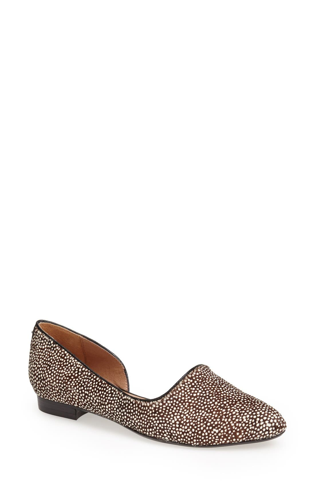 Alternate Image 1 Selected - Nina Originals 'Quip' Calf Hair Pointed Toe Flat (Women)