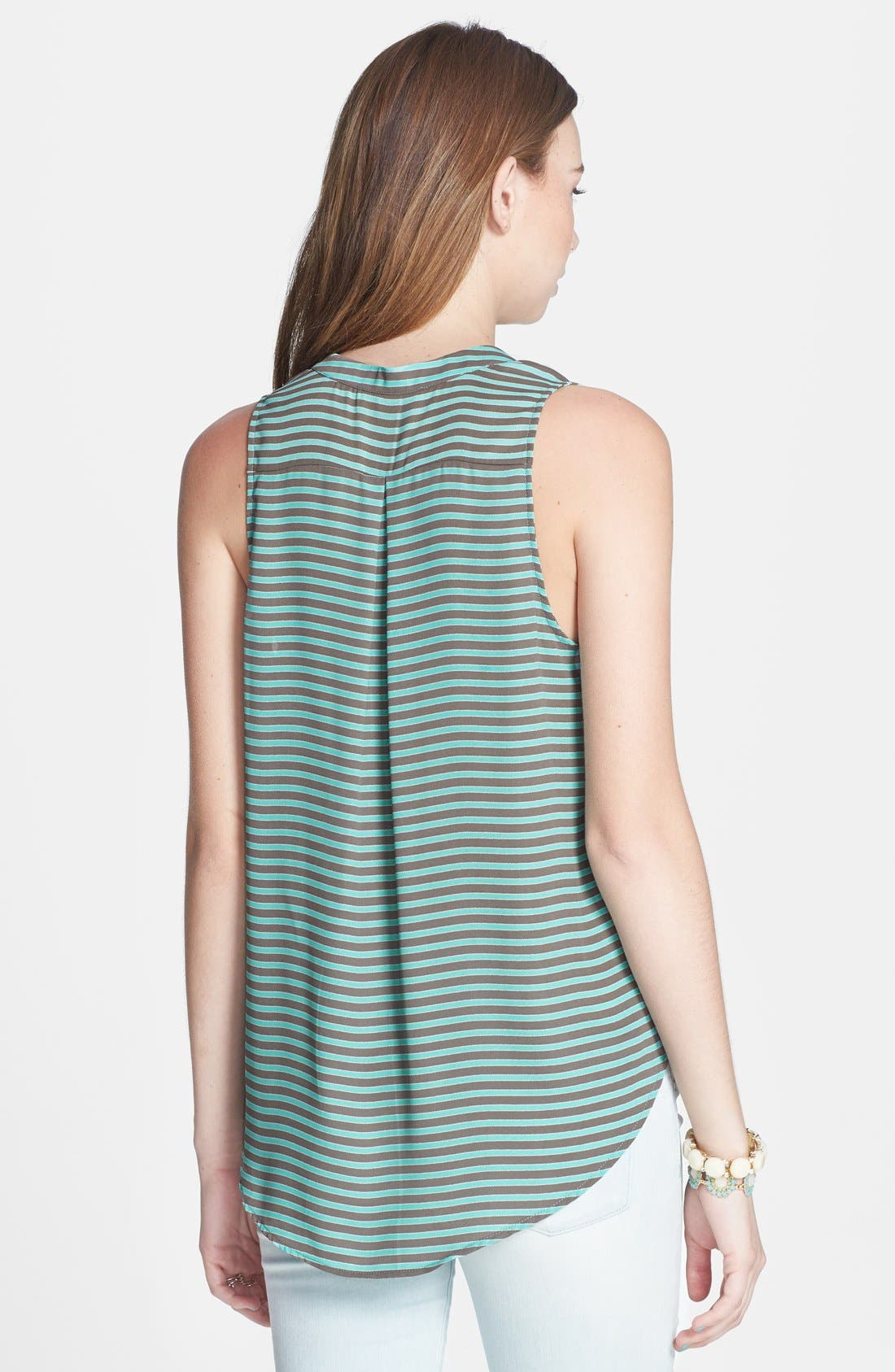 Alternate Image 2  - Lush Split Neck Woven Tank