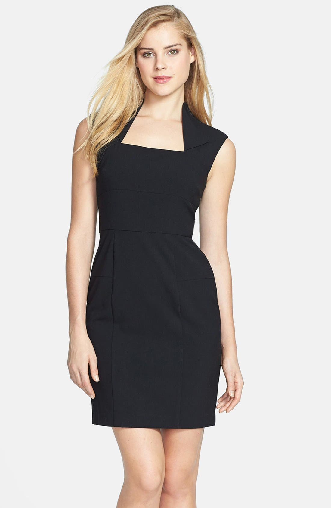 Main Image - Marc New York by Andrew Marc Fold Collar Sheath Dress