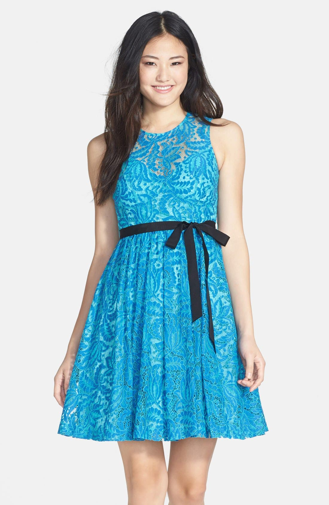 Alternate Image 1 Selected - Plenty by Tracy Reese 'Alana' Lace Fit & Flare Dress (Petite)