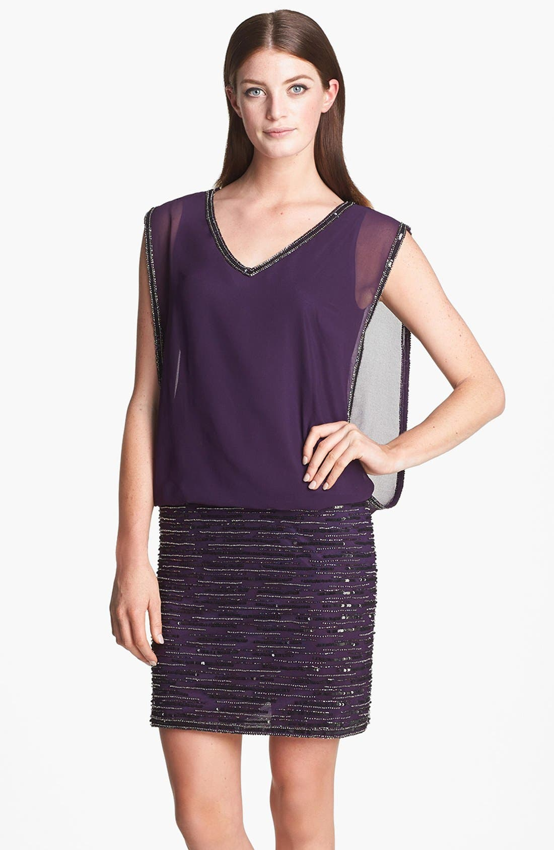 Main Image - J Kara Embellished Sleeveless Short Dress