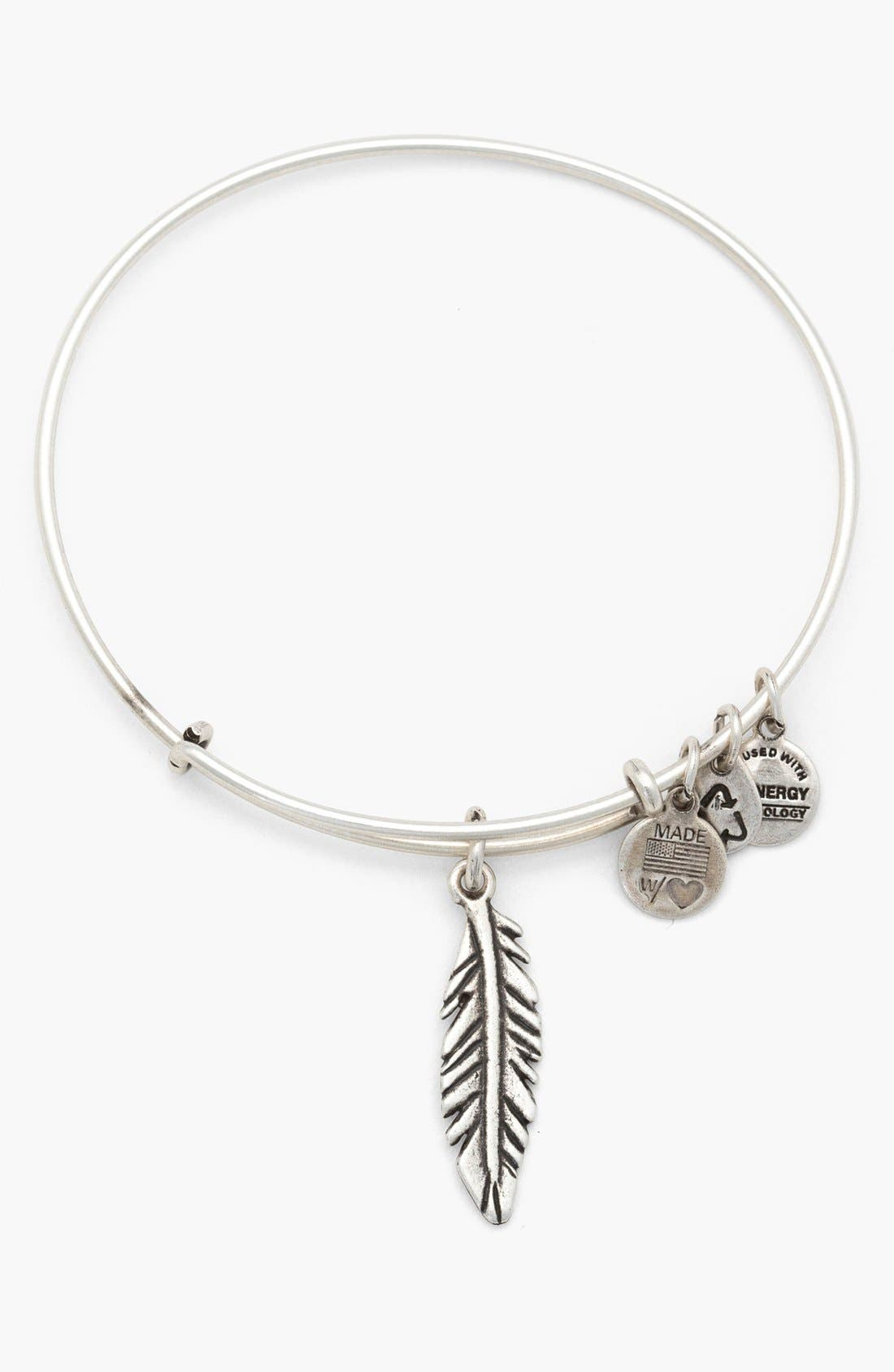 Alternate Image 1 Selected - Alex and Ani 'Feather' Expandable Wire Bangle