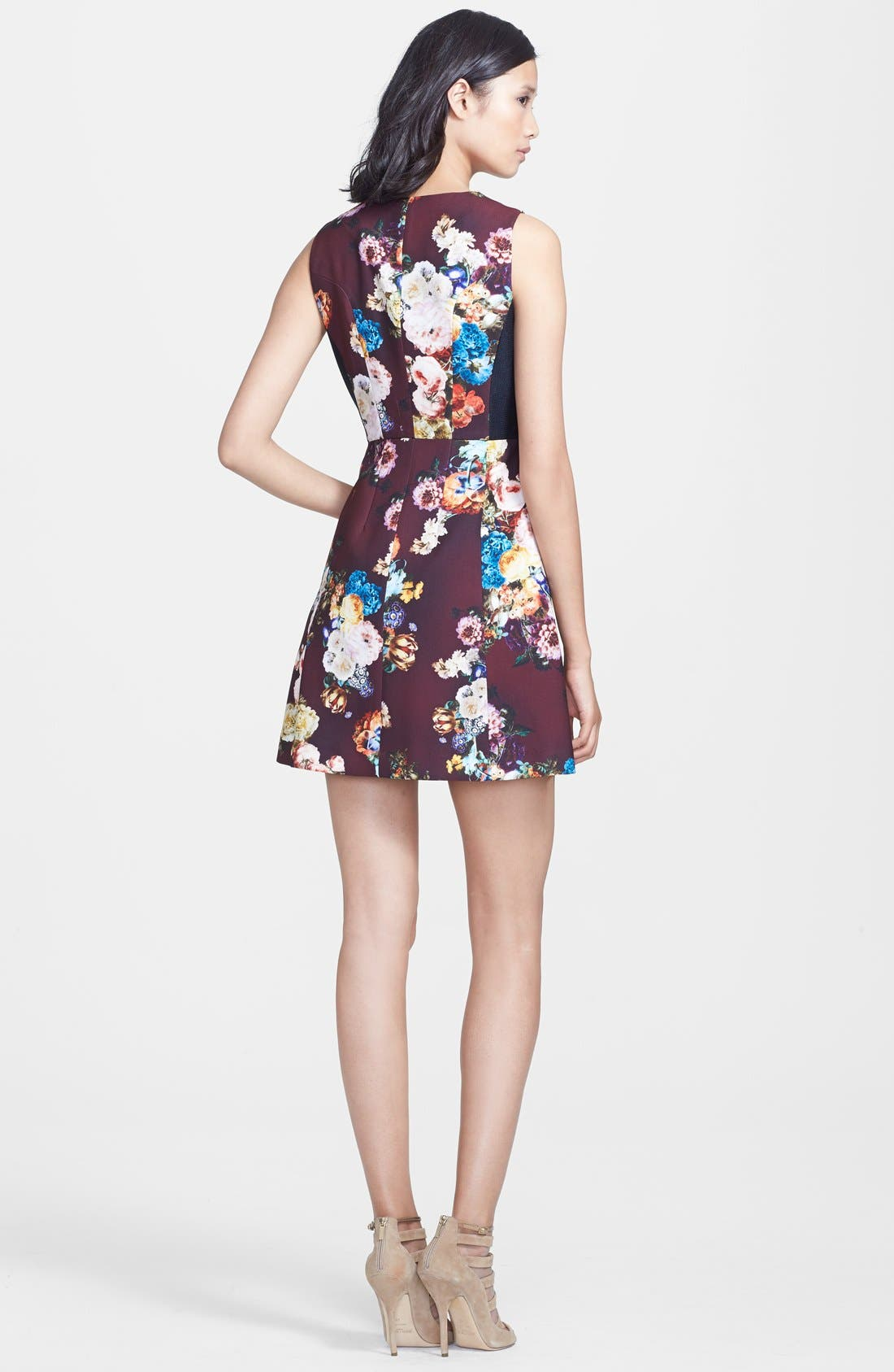 Alternate Image 2  - Mcginn 'Emily' Zip Front Print Fit & Flare Dress