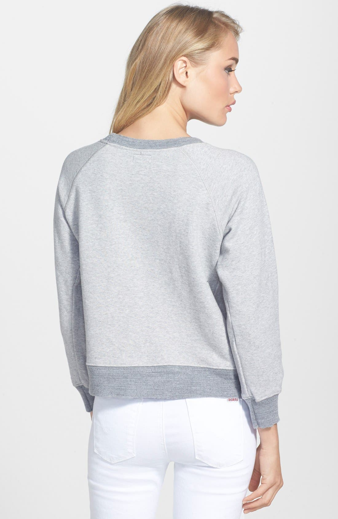 Alternate Image 2  - MOTHER 'The Square' Raglan Sweatshirt