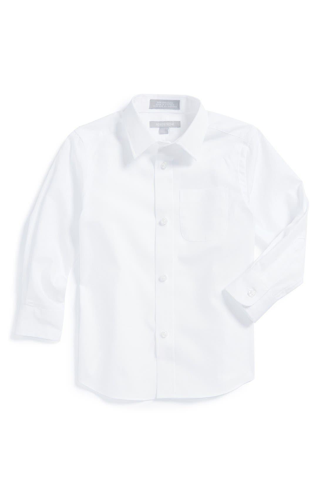 Nordstrom Cotton Poplin Dress Shirt (Toddler Boys)