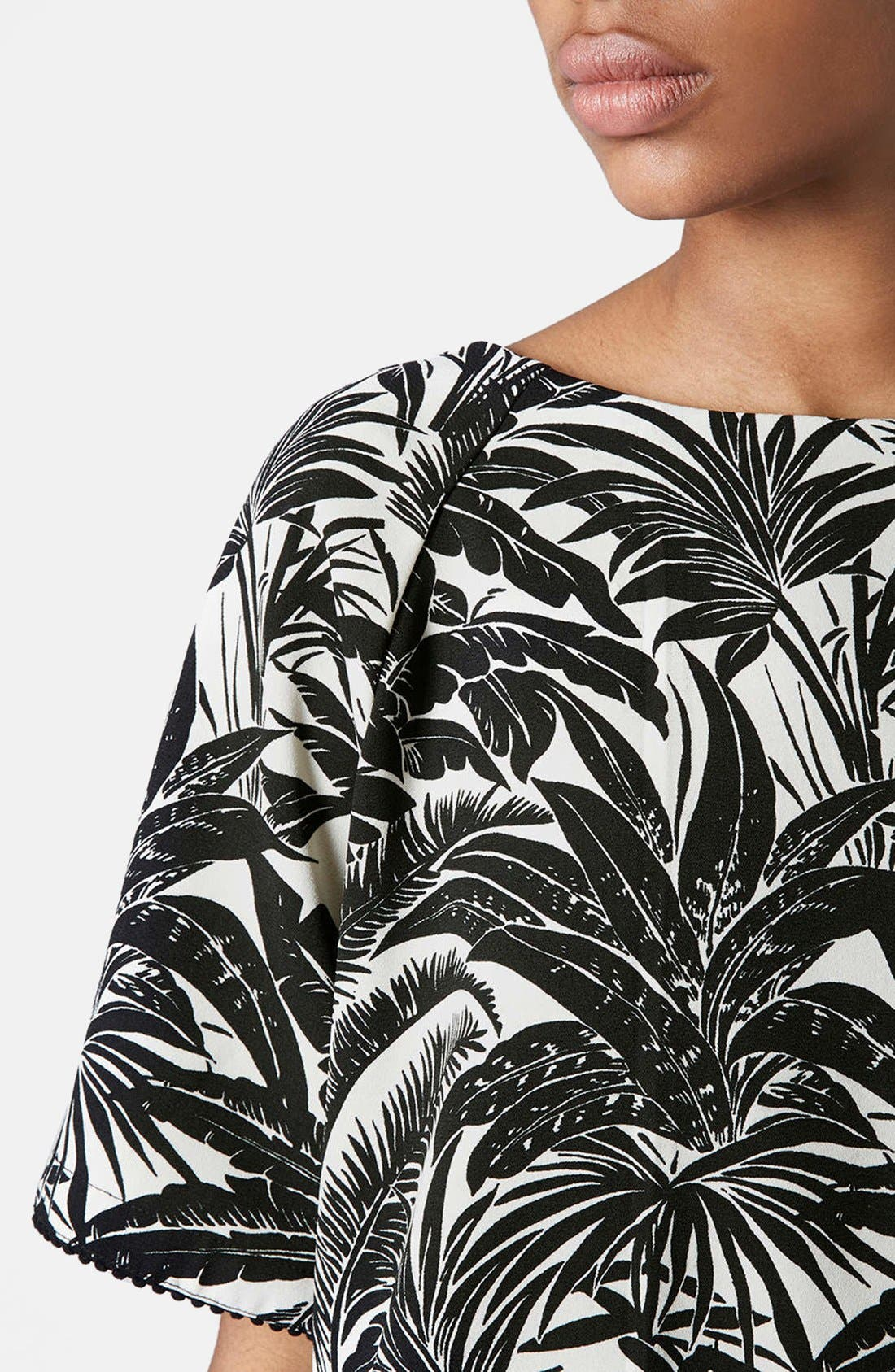 Alternate Image 4  - Topshop Tropical Print Raglan Tee
