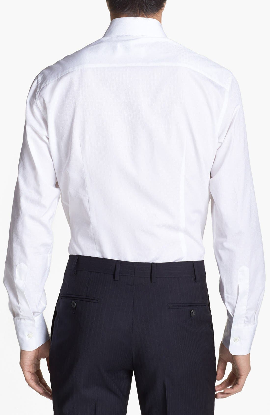 Alternate Image 2  - Salvatore Ferragamo Dobby Trim Fit Sport Shirt