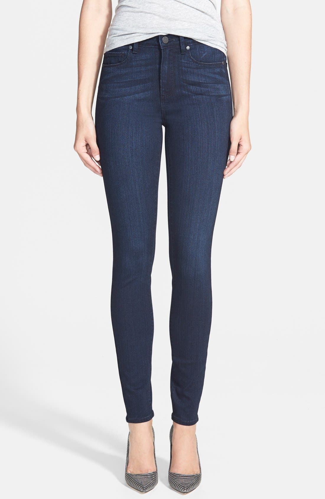 Paige Denim 'Transcend - Hoxton' High Rise Ultra Skinny Jeans (Mae)