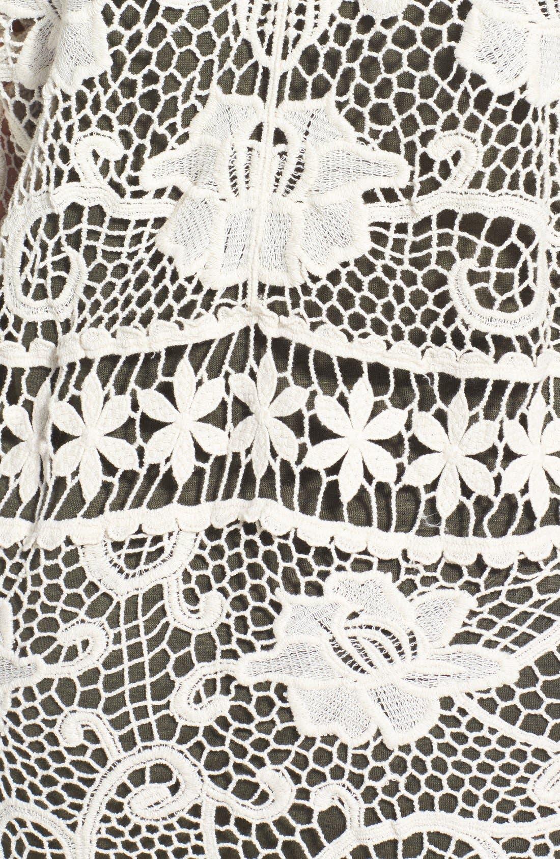 Alternate Image 3  - Forgotten Grace Tie Front Crochet Cardigan (Plus Size)