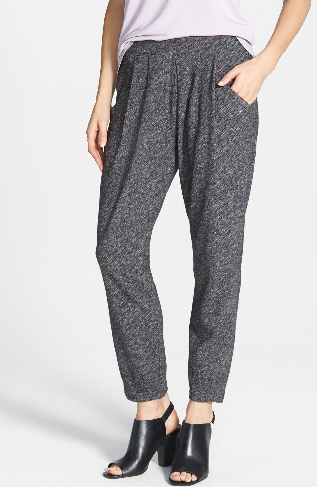 Main Image - Eileen Fisher Cotton & Wool Blend Slouchy Ankle Pants