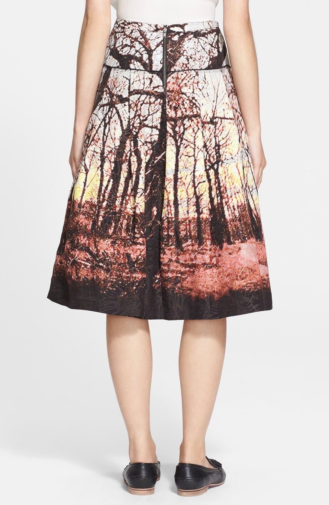 Alternate Image 2  - Tracy Reese Print Jacquard A-Line Skirt