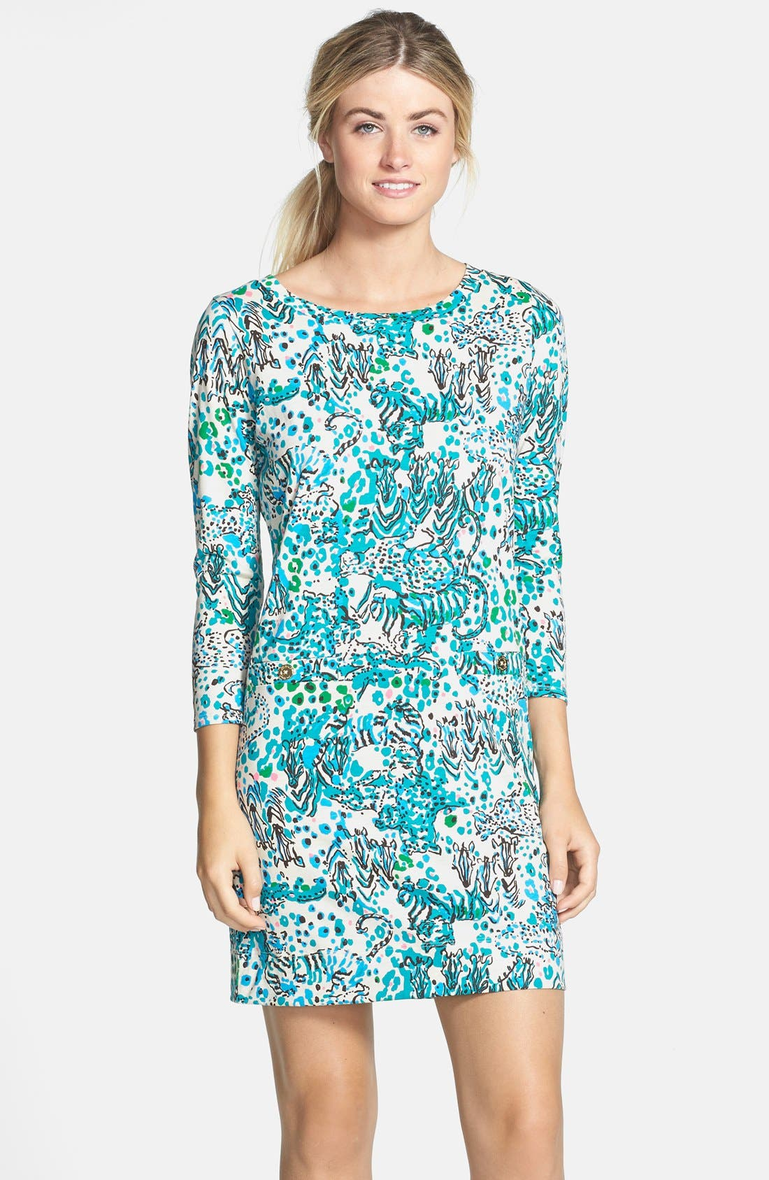 Alternate Image 1 Selected - Lilly Pulitzer® 'Corine' Print Pima Cotton Shift Dress