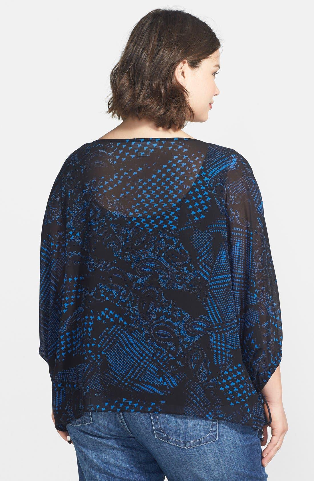Alternate Image 2  - MICHAEL Michael Kors Foulard Print Kimono Sleeve Top (Plus Size)