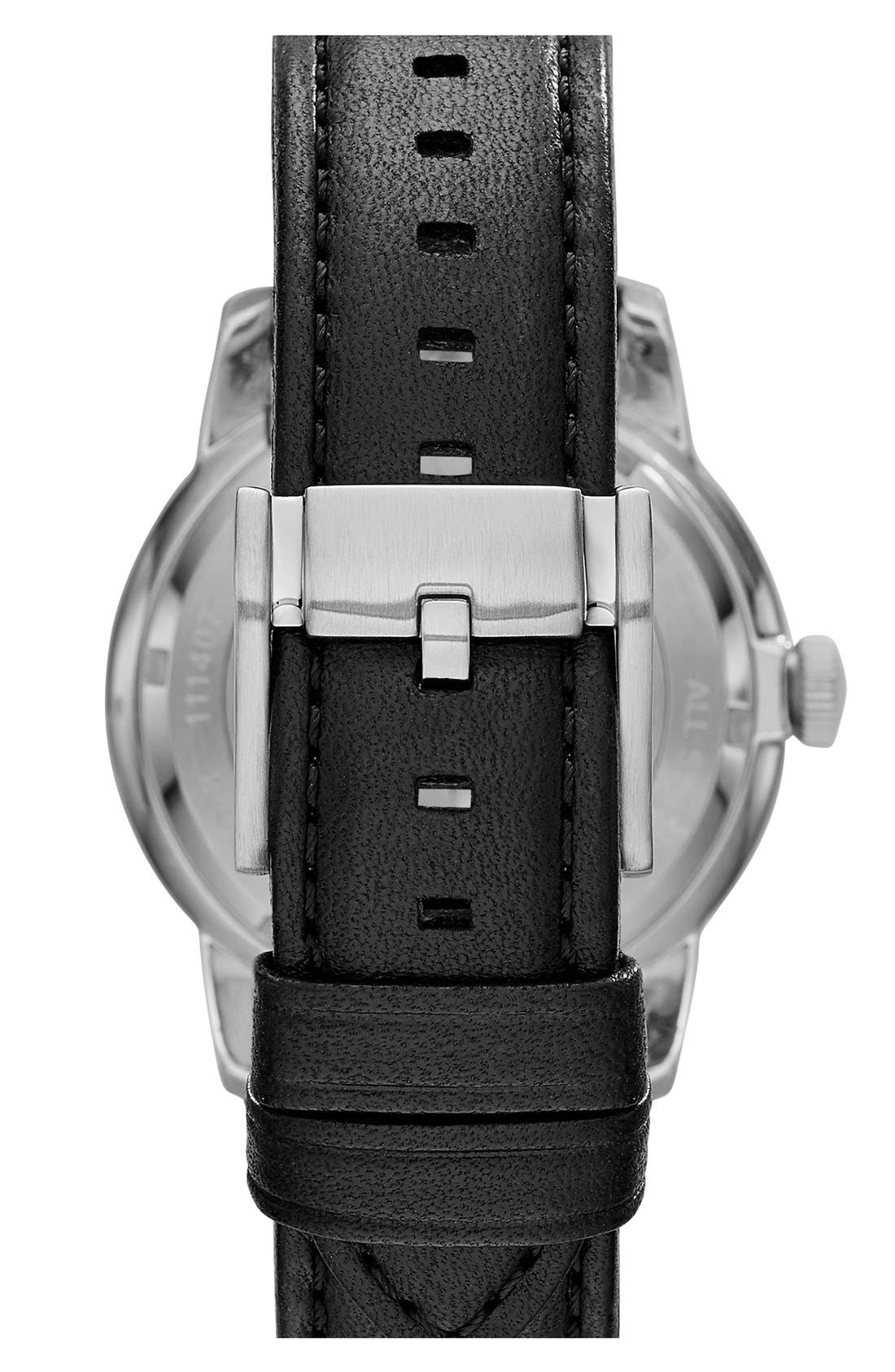 Alternate Image 2  - Fossil 'Townsman' Leather Strap Watch, 40mm (Limited Edition)