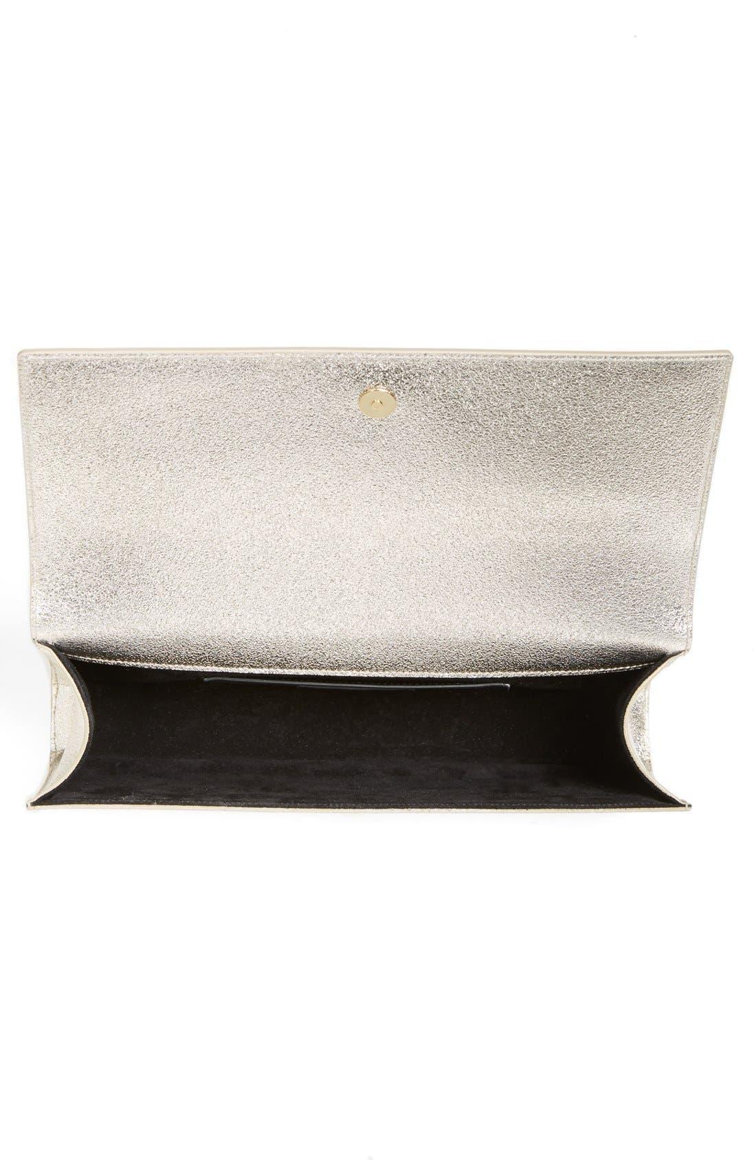 Alternate Image 4  - Saint Laurent 'Cassandre' Leather Clutch