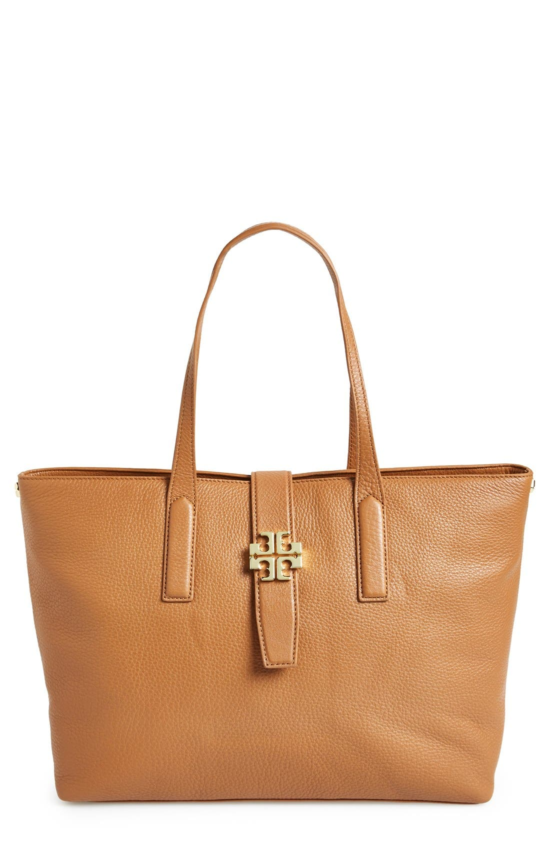 Alternate Image 1 Selected - Tory Burch 'Plaque' Leather Tote