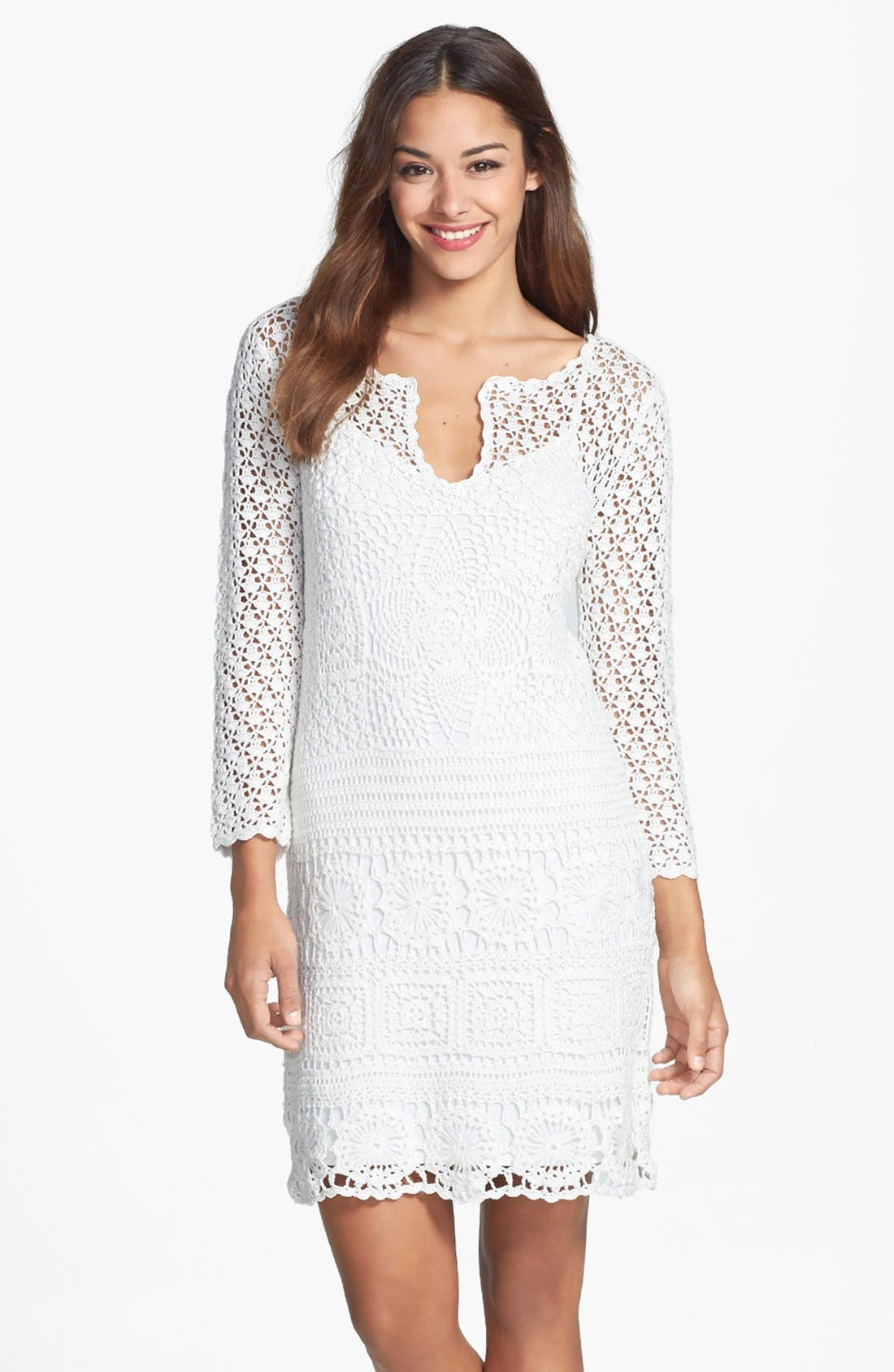 Alternate Image 1 Selected - Trina Turk 'Lanai' Crochet Lace Dress