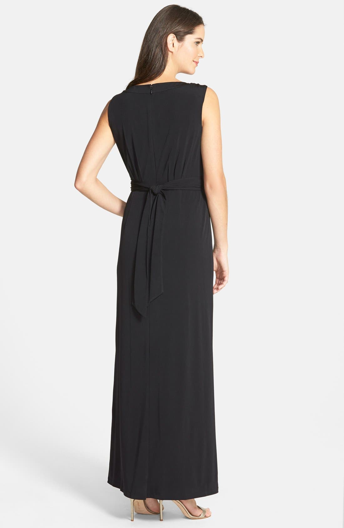 Alternate Image 2  - Ellen Tracy Embellished Keyhole Column Gown