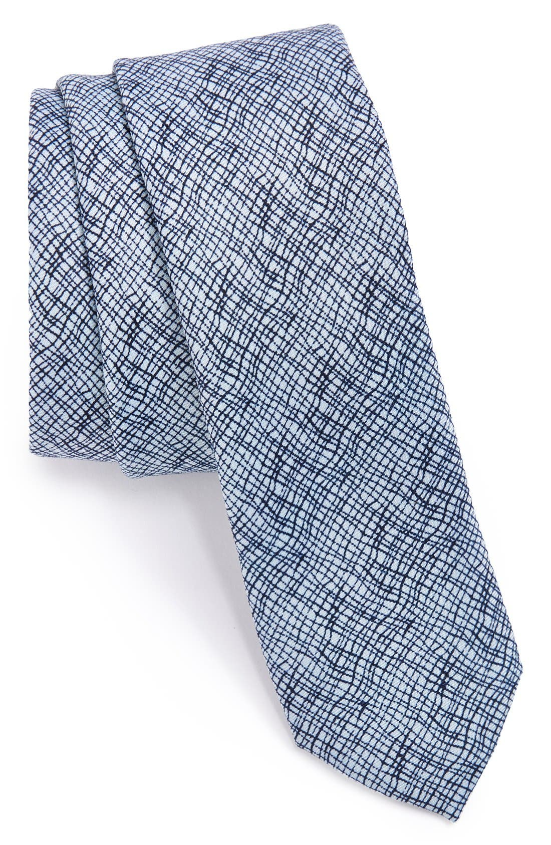 Alternate Image 1 Selected - Topman Crosshatch Pattern Tie