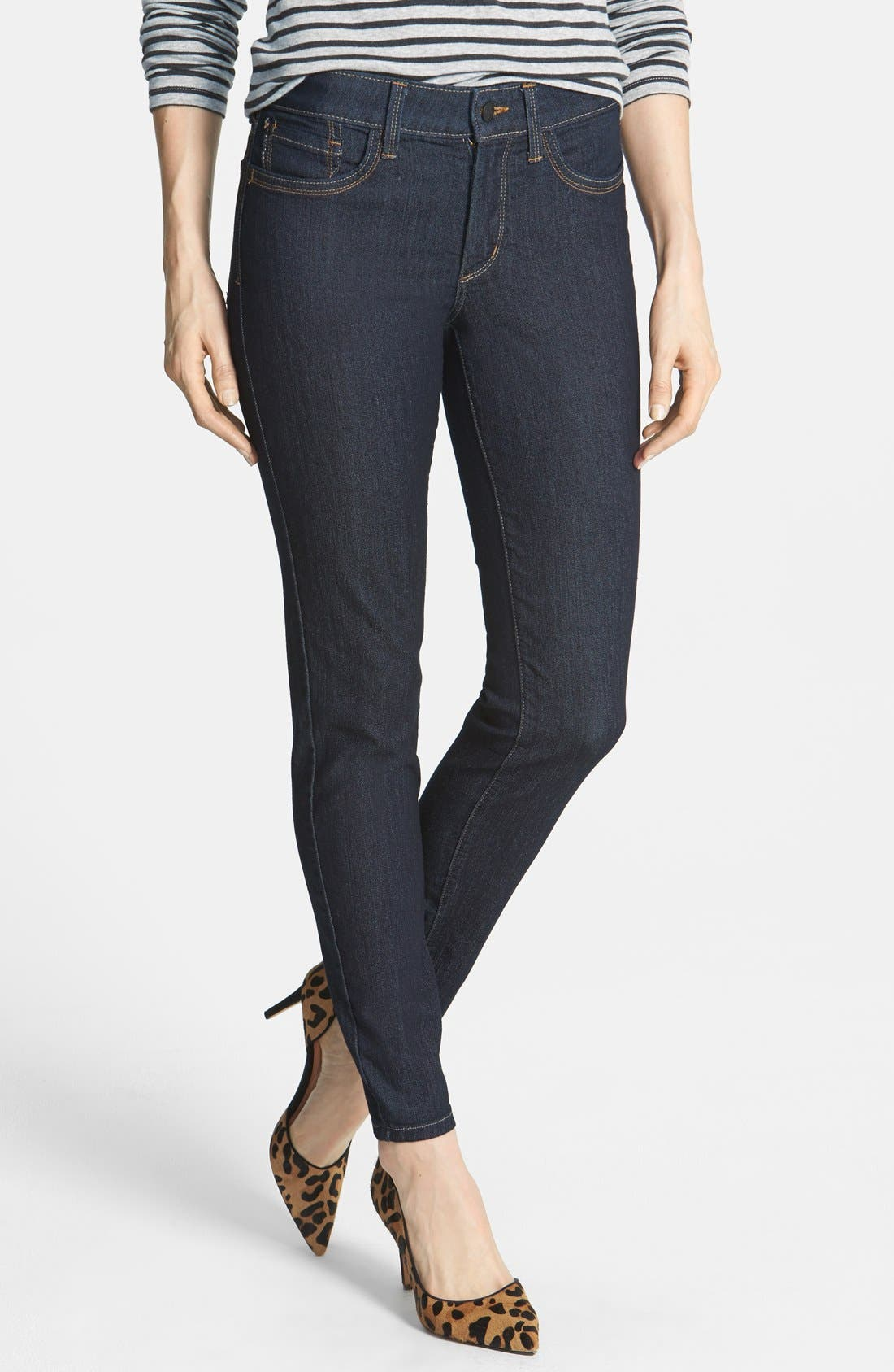 Alternate Image 1 Selected - NYDJ 'Ami' Stretch Skinny Jeans (Dark Enzyme) (Petite)