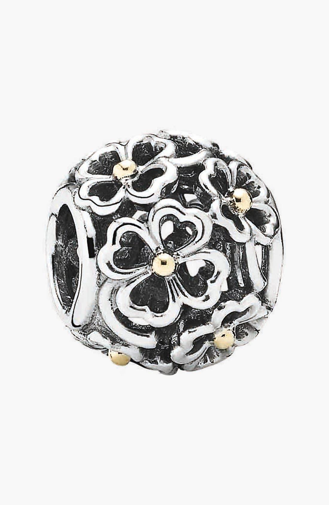 Alternate Image 1 Selected - PANDORA 'Evening Floral' Bead Charm