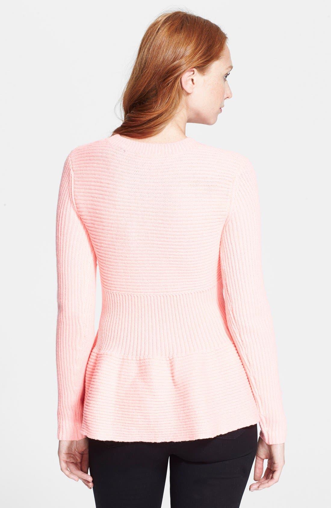 Alternate Image 2  - Ted Baker London 'Edeniaa' Rib Knit Peplum Sweater