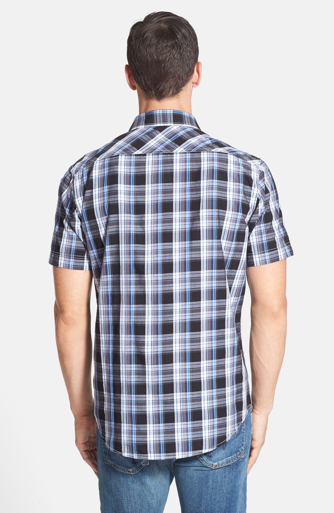Alternate Image 2  - James Campbell 'Monitiel Plaid' Short Sleeve Sport Shirt